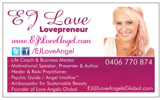 About ej ej love angel business card front colourmoves